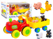 Traktor haagise ning loomadega