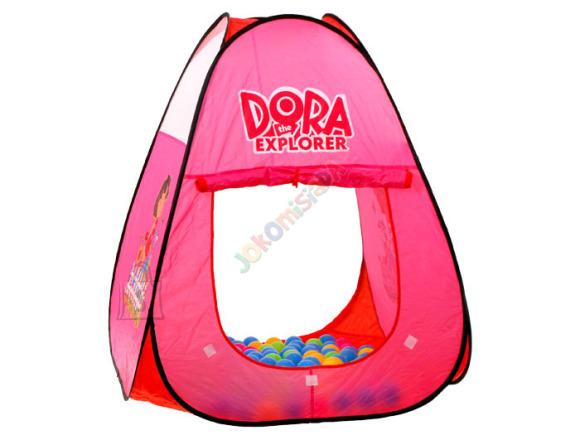 Mängutelk Dora koos pallimerega