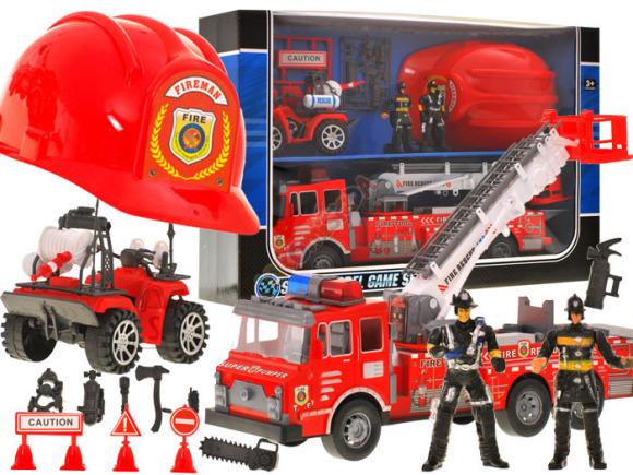 Tuletõrje mängukomplekt lastele + kiiver