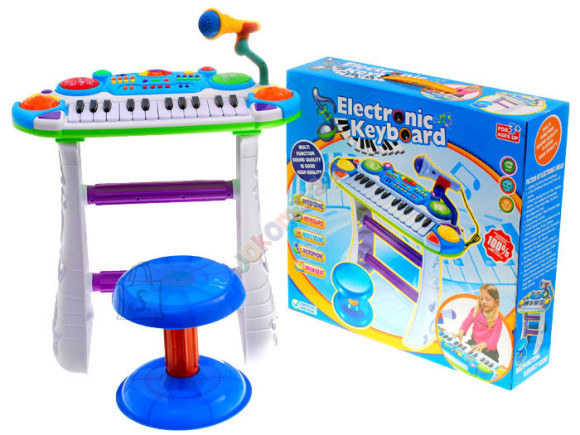 Multifunktsionaalne süntesaator lastele koos tooliga