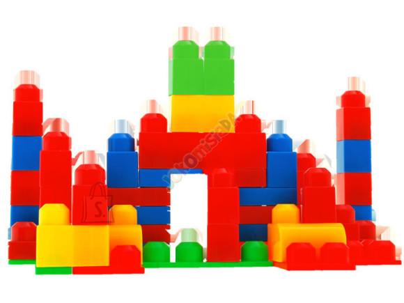 Värviline klotsikomplekt lastele, 52 tk