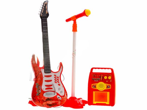 Mängu elektrikitarr mikrofoni ja võimendiga