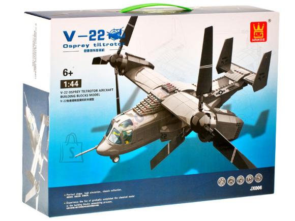 WANGE Ehitusklotside komplekt Lennuk V-22, 598 osa