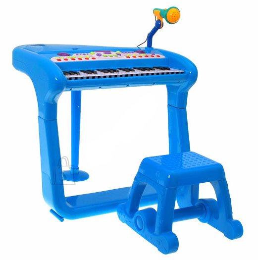 Väikelaste süntesaator mikrofoni ja tooliga