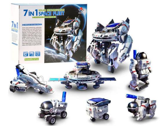 Päikeseenergiaga töötav konstruktor Kosmos 7in1