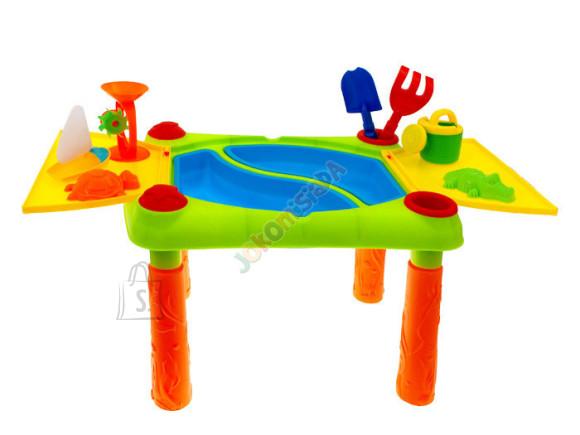 Laud koos liivakasti mänguasjadega 2in1