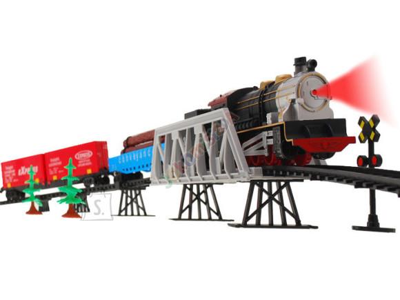Kokkupandav rongirada koos tarvikutega
