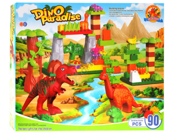Ehitusklotside komplekt Dinosaurused, 90 osa
