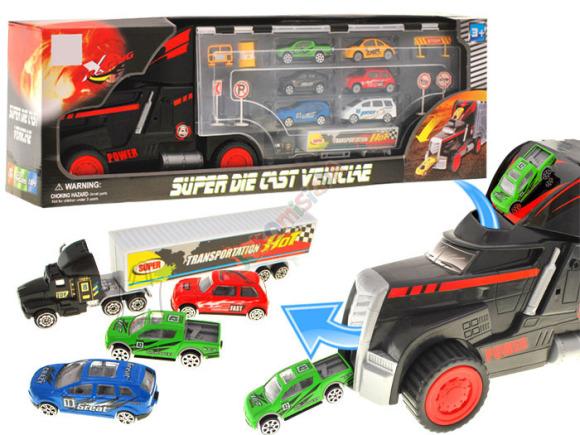 Veoauto kohver koos autodega lastele