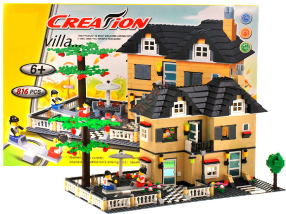 Ehitusklotside komplekt Villa, 816 osa