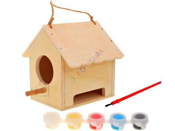 Värvitav linnu pesakast, lastele