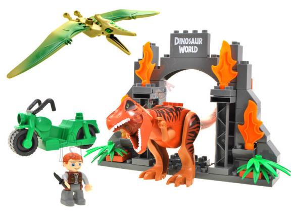 Ehitusklotside komplekt Dinosauruste Park