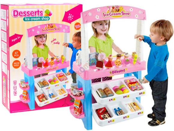 Mängu jäätisepood koos tarvikutega