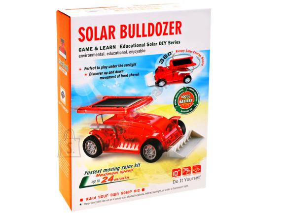 Mängusõiduk buldooser, päikesepaneeliga