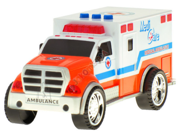 Sireeniga kiirabiauto lastele