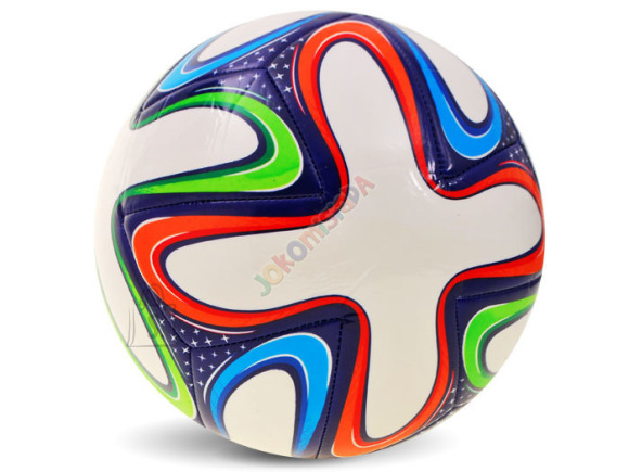 Värvilise mustriga jalgpall