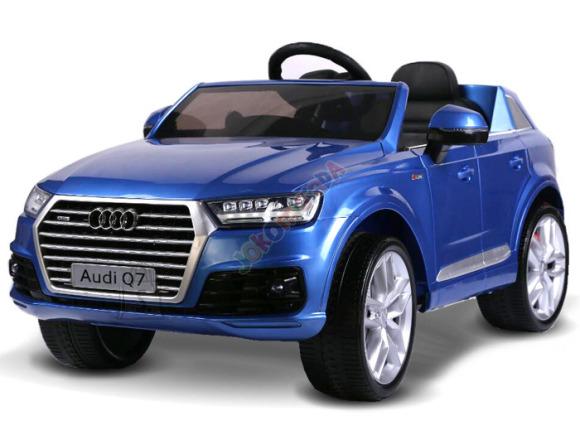 Elektriauto Audi Q7 nahast istmega