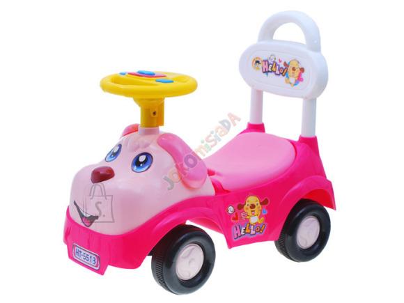 Pealeistutav rooliga tõukeauto Dog