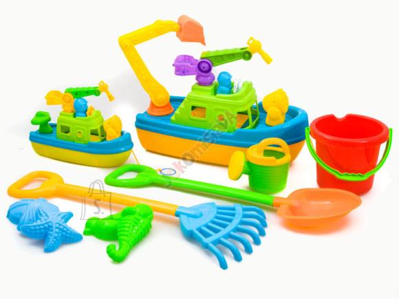 Paatidega liivakasti mänguasjade komplekt