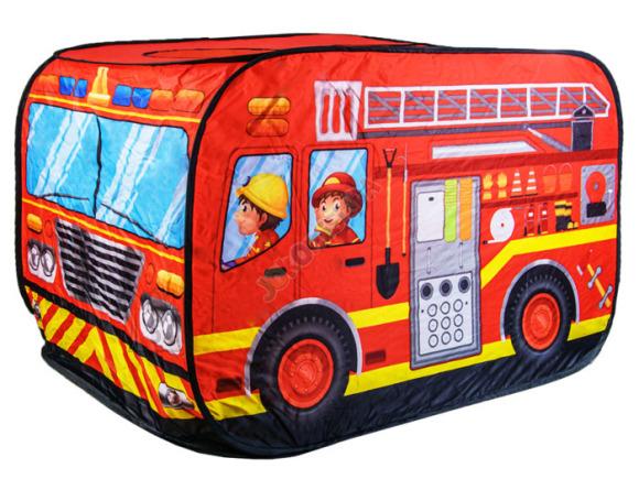 Tuletõrjeauto kujuline mängutelk koos pallimerega