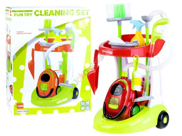 Mängu koristamiskomplekt lastele