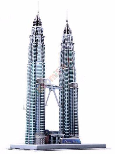 3D pusle Petronas Towers Malaisias