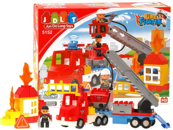 Klotsikomplekt tuletõrjeauto, 36 osa