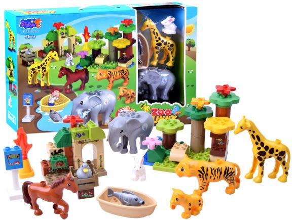 Mänguklotsid figuuridega Loomaaed