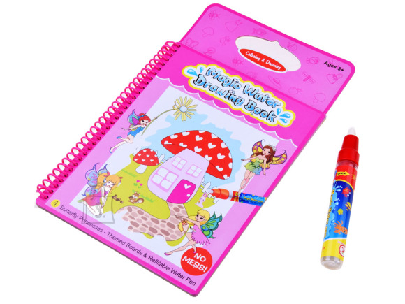 Paint book with water pen fairies ZA2677