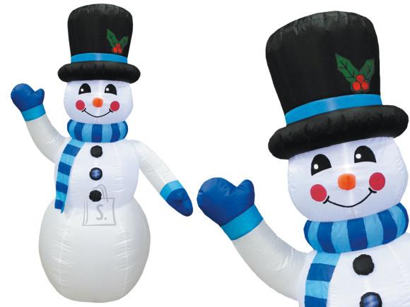 Täispuhutav lumememm sinise salliga 240 cm