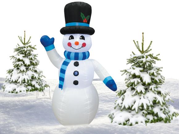 Täispuhutav lumememm sinise salliga 180 cm
