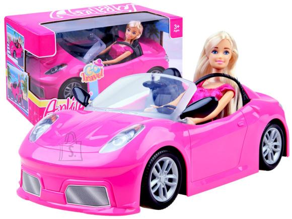 Mängunukk roosa autoga