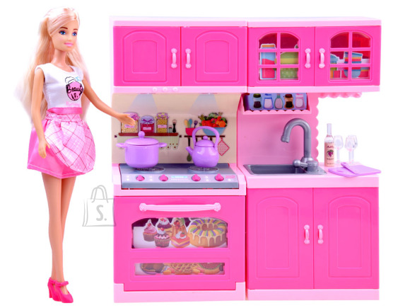 Mängunukk Anilily + köögikomplekt