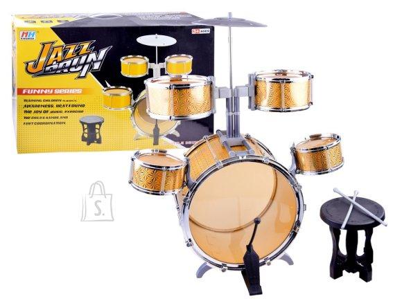 Kuldne mängu trummikomplekt lastele