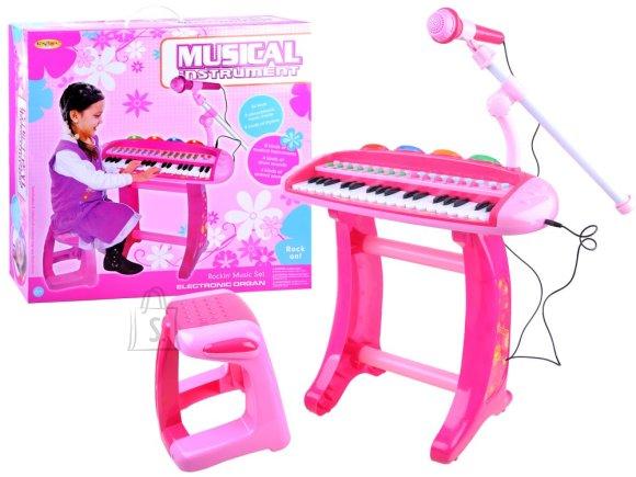 Mänguklaver tooli ja mikrofoniga
