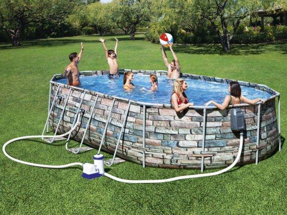 Bestway Frame pool 6,10m x 3,66m Bestway 10in1 56719