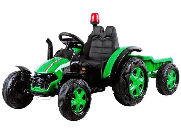 Elektriline järelkäruga traktor lastele roheline