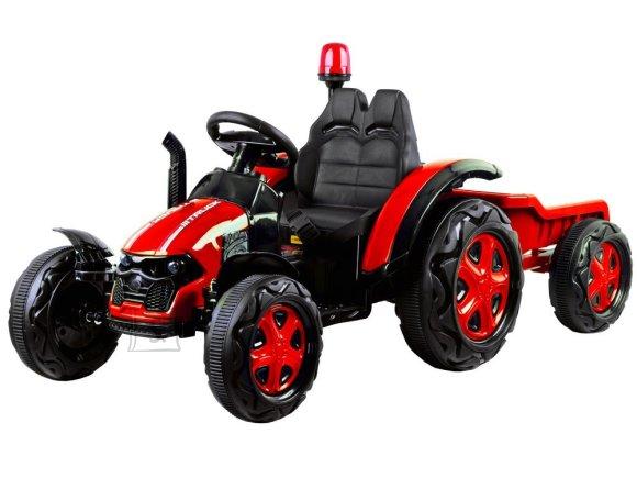 Elektriline järelkäruga traktor lastele punane