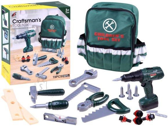 Mängu tööriistakomplekt seljakotiga