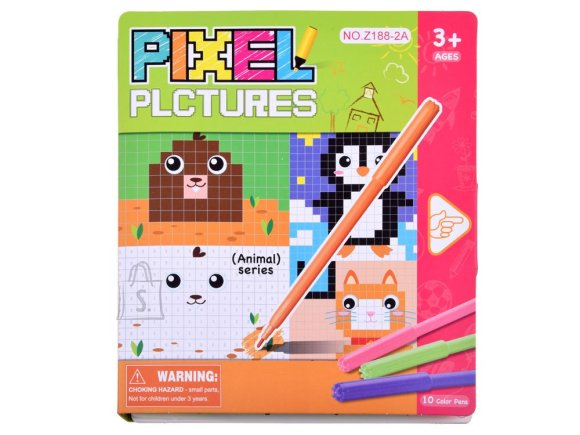 Educational coloring book pixels ZA3372