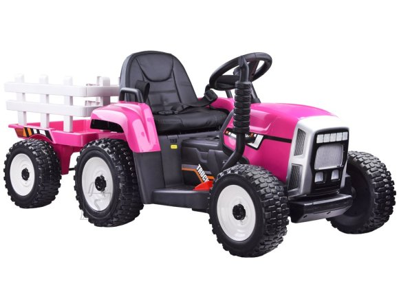 Tractor with a trailer for a battery + PA0242 remote control - roosa