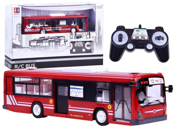 Raadioteel juhitav buss punane