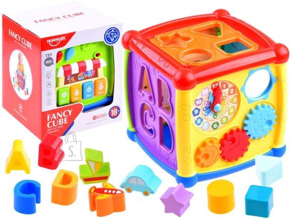 Interaktiivne arendav mänguasi värvililne KUUBIK