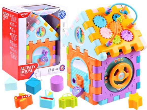 Folding house, educational cube sorter ZA3414