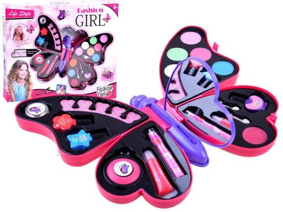 Kosmeetikakomplekt lastele liblikakujulises karbis