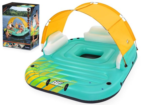 Bestway floating inflatable Island 5os canopy 43407