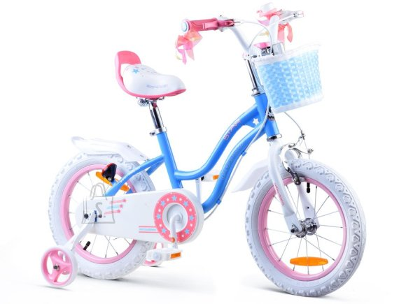 Royal Baby Girls' bicycle STAR GIRL 14 inch Blue RB14G-1