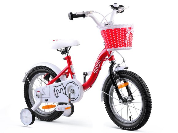 RoyalBaby Girls' Bike 14 punane
