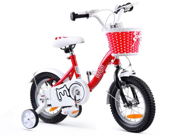 RoyalBaby Girls' Bicycle 12 punane