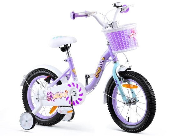 RoyalBaby Girls' Bike 14 violetne